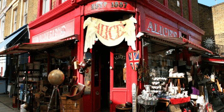 Portobello Market for antiques, jewellery, clothes, food and pottery