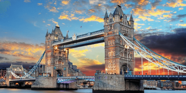 The tower bridge is often mistaken for the london bridge and is one of the most astounding structures in london