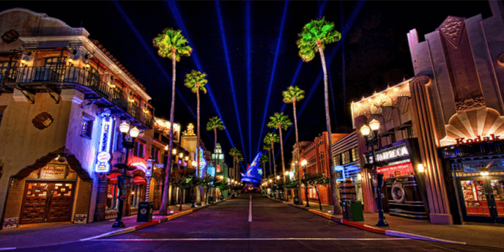 Hollywood Boulevard by Night