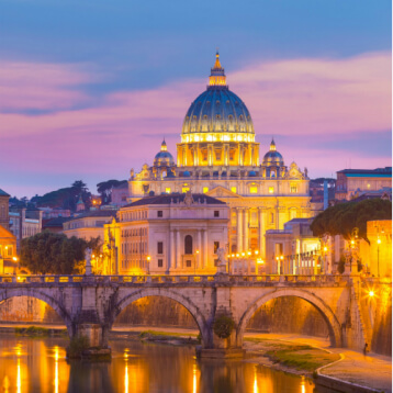 St. Peter's Basilica at Rome, Italy