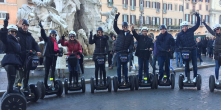 Segway Fun offers City Tours, Panoramic Night Tour or Treasure Hunt activities around Rome