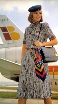 iberia airline old school uniform