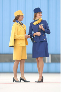 lufthansa airlines vintage uniform