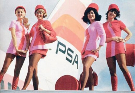 pacific southwest airlines vintage uniform